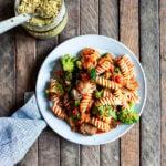 Easy Vegan Sausage Mushroom Marinara Pasta