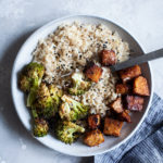 Sheet Pan Tamari Glazed Tempeh & Broccoli