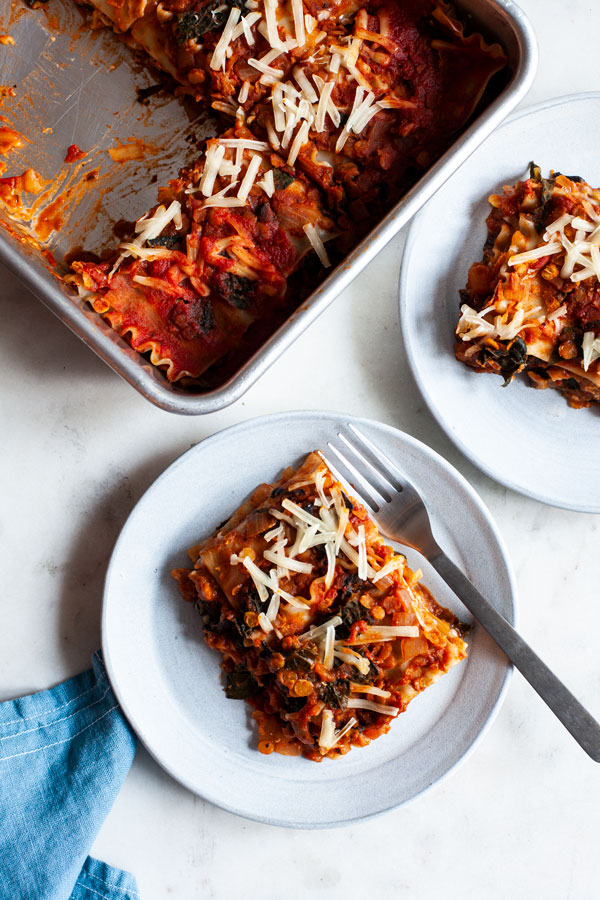 Wholesome Vegan Lentil, Mushroom & Kale Lasagna | The Full Helping
