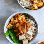 Chili Roasted Cauliflower, Brown Rice & Kimchi Bowls