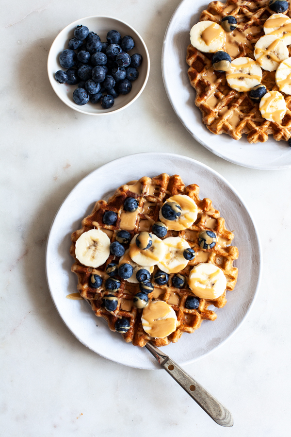 Vegan Peanut Butter Waffles | The Full Helping