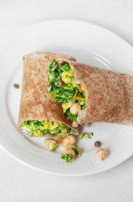Vegan Chickpea Caesar Wraps