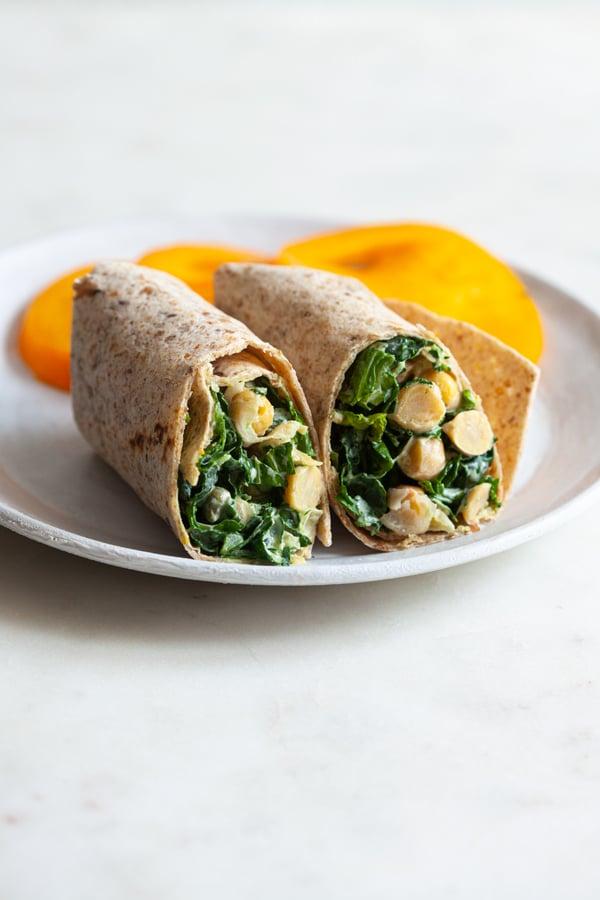 Vegan Chickpea Caesar Wraps | The Full Helping