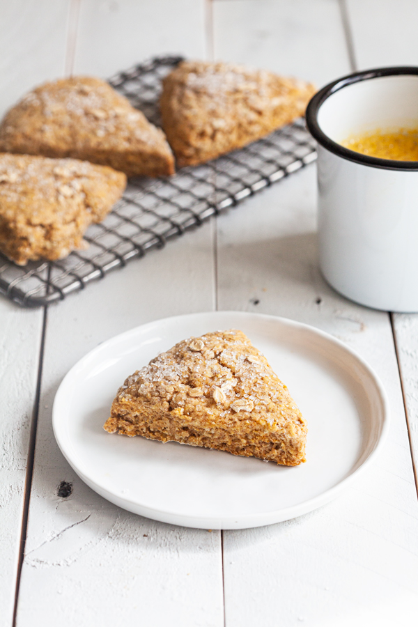 Wholesome Vegan Pumpkin Oat Scones | The Full Helping