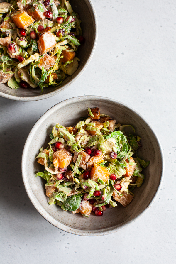 Roasted Butternut & Shaved Brussels Sprout Salad