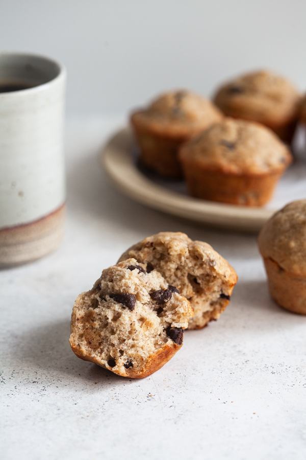 Perfect Vegan Banana Chocolate Chip Muffins