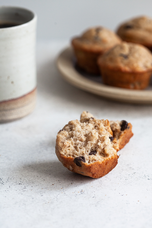 Perfect Vegan Banana Chocolate Chip Muffins | The Full Helping