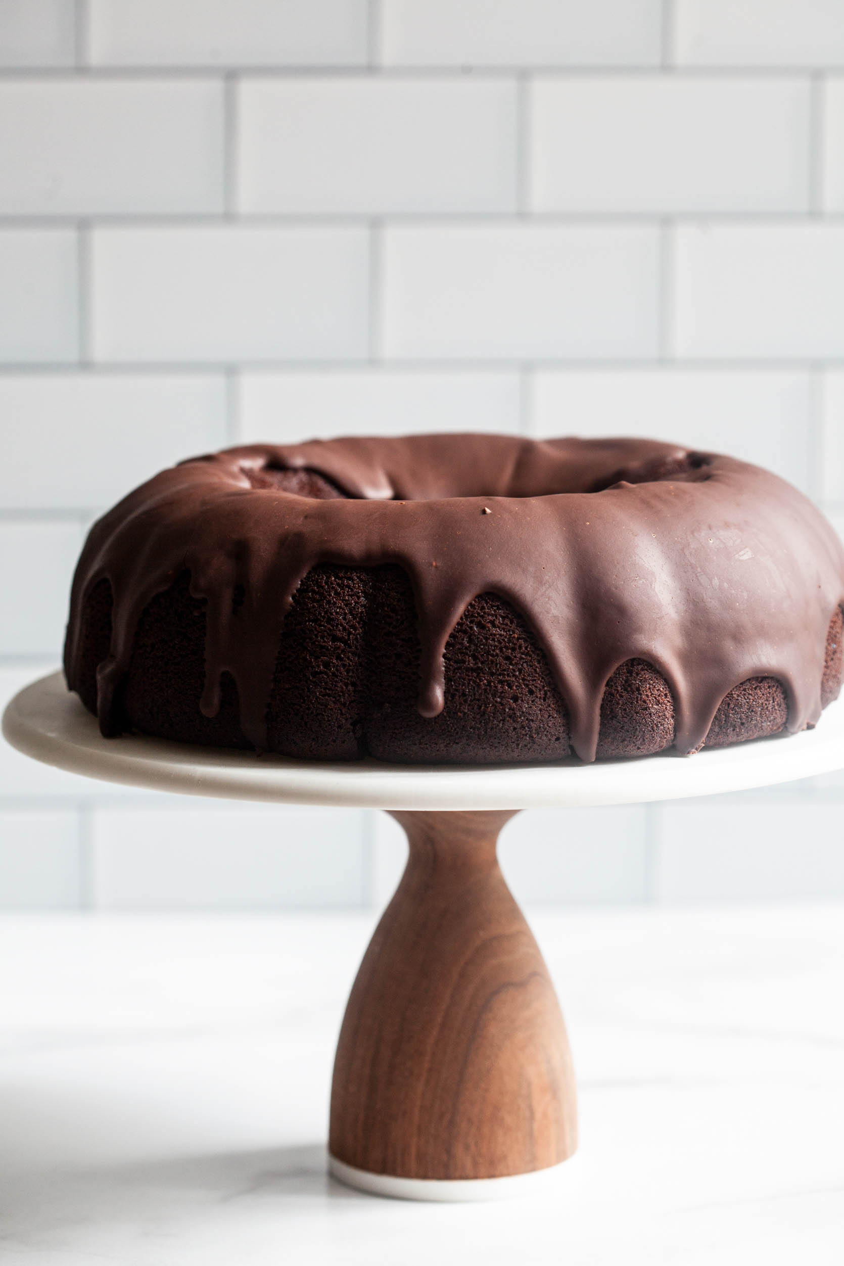 Vegan Chocolate Bundt Cake with Chocolate Ganache Glaze