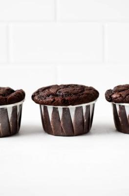 Vegan Double Chocolate Muffins