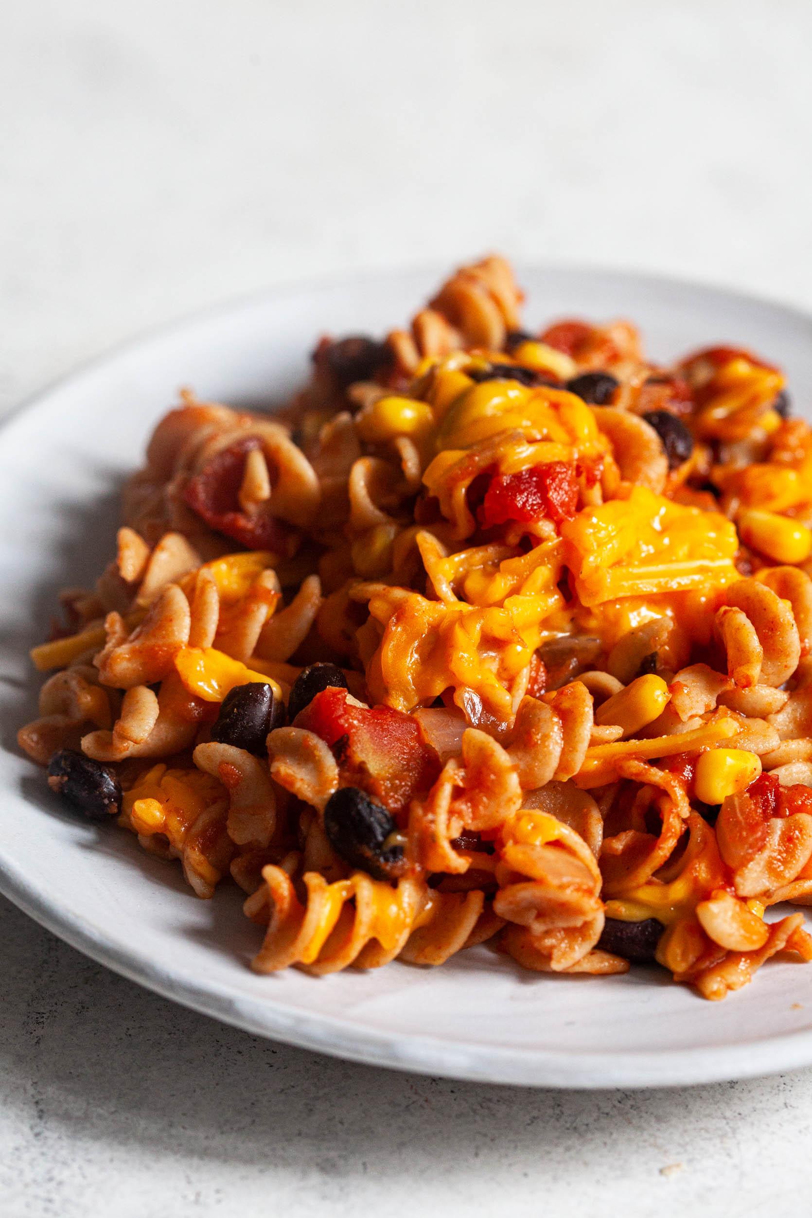 Simple Vegan Tex-Mex Skillet Pasta