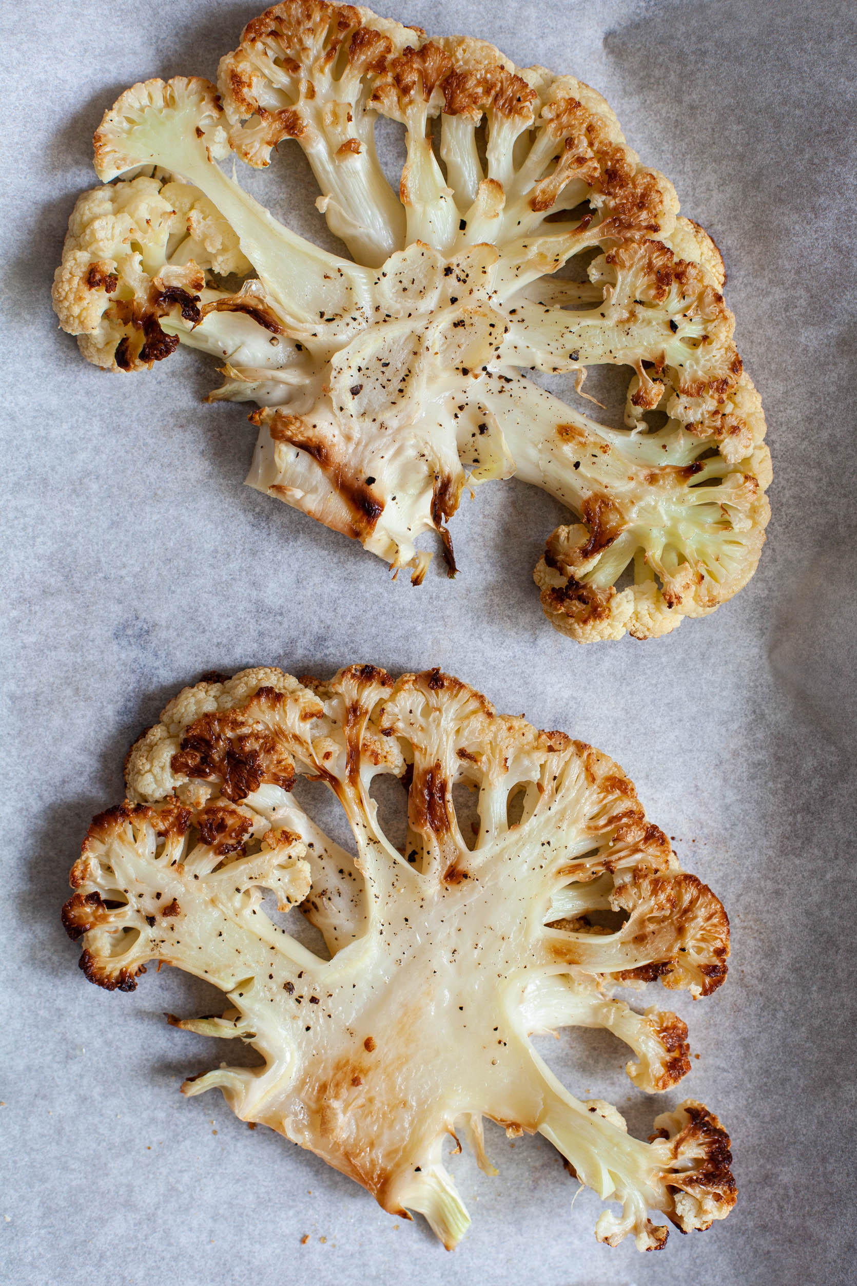 Cauliflower Steaks with Citrus Scented Rice and Creamy Orange Juice Turmeric Sauce | The Full Helping