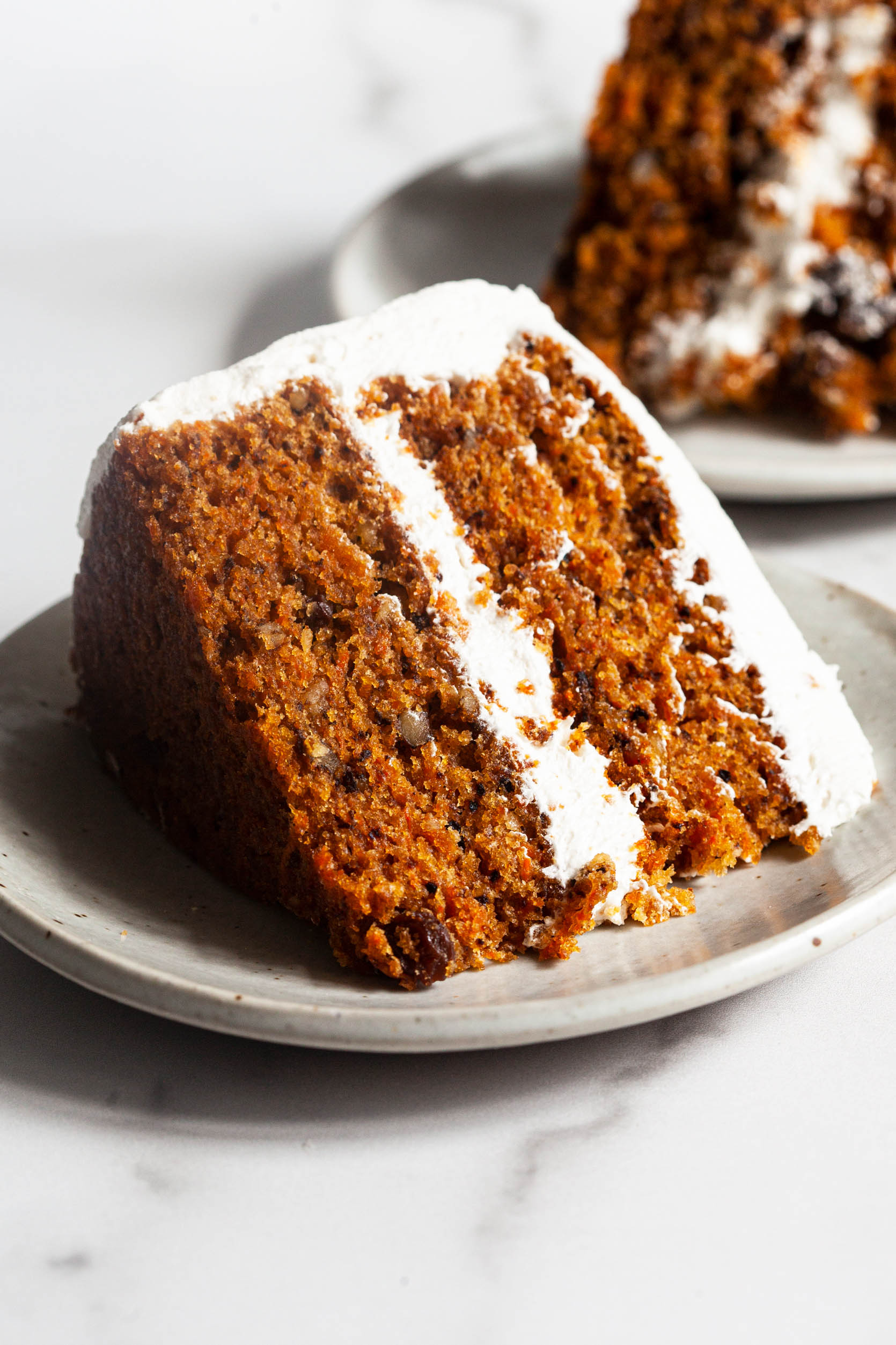 Favorite Vegan Carrot Cake with Cream Cheese Frosting | The Full Helping