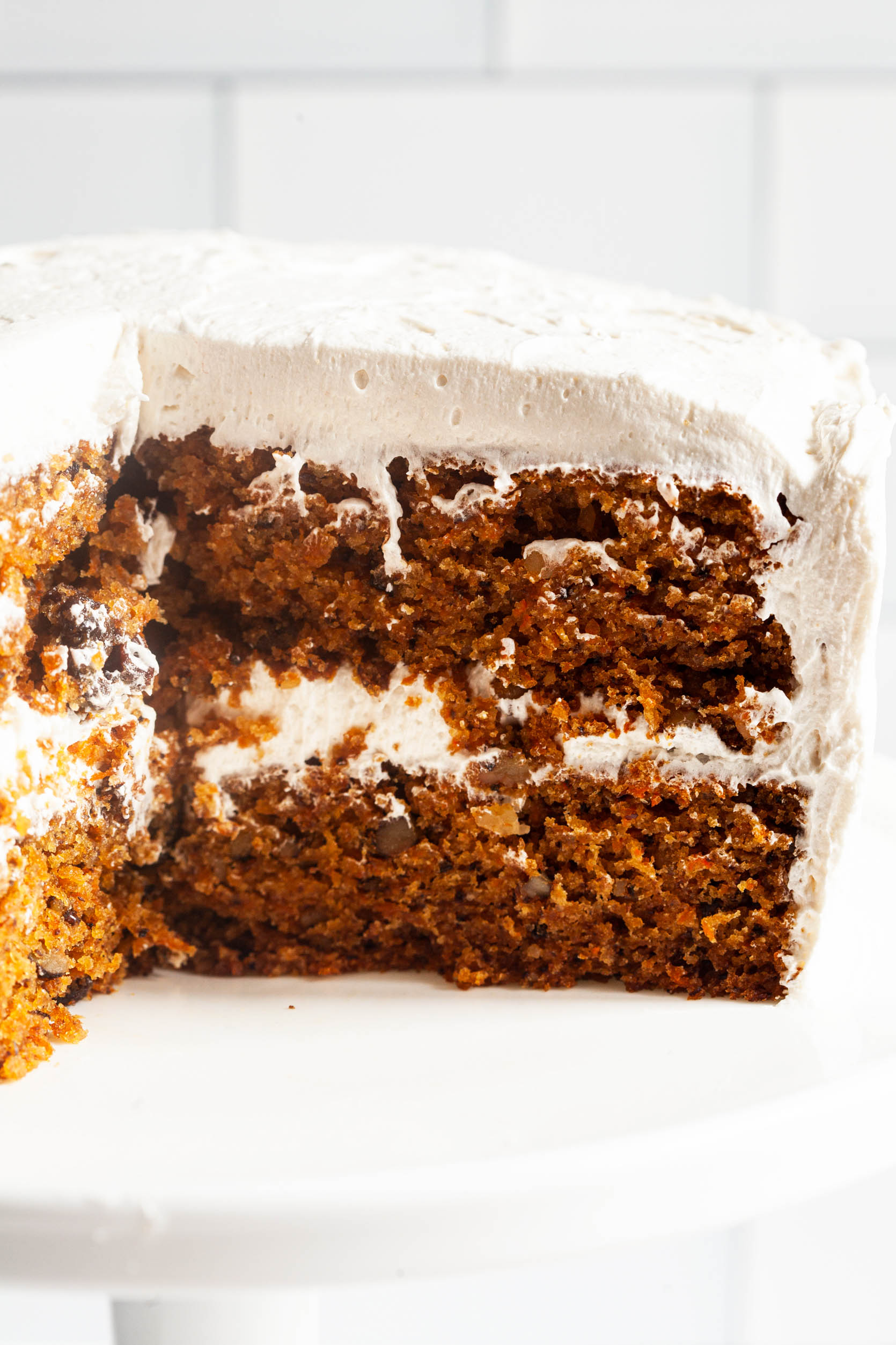 Favorite Vegan Carrot Cake with Cream Cheese Frosting   The Full Helping