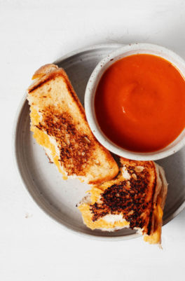 Vegan Grilled Cheese & Pantry Tomato Soup