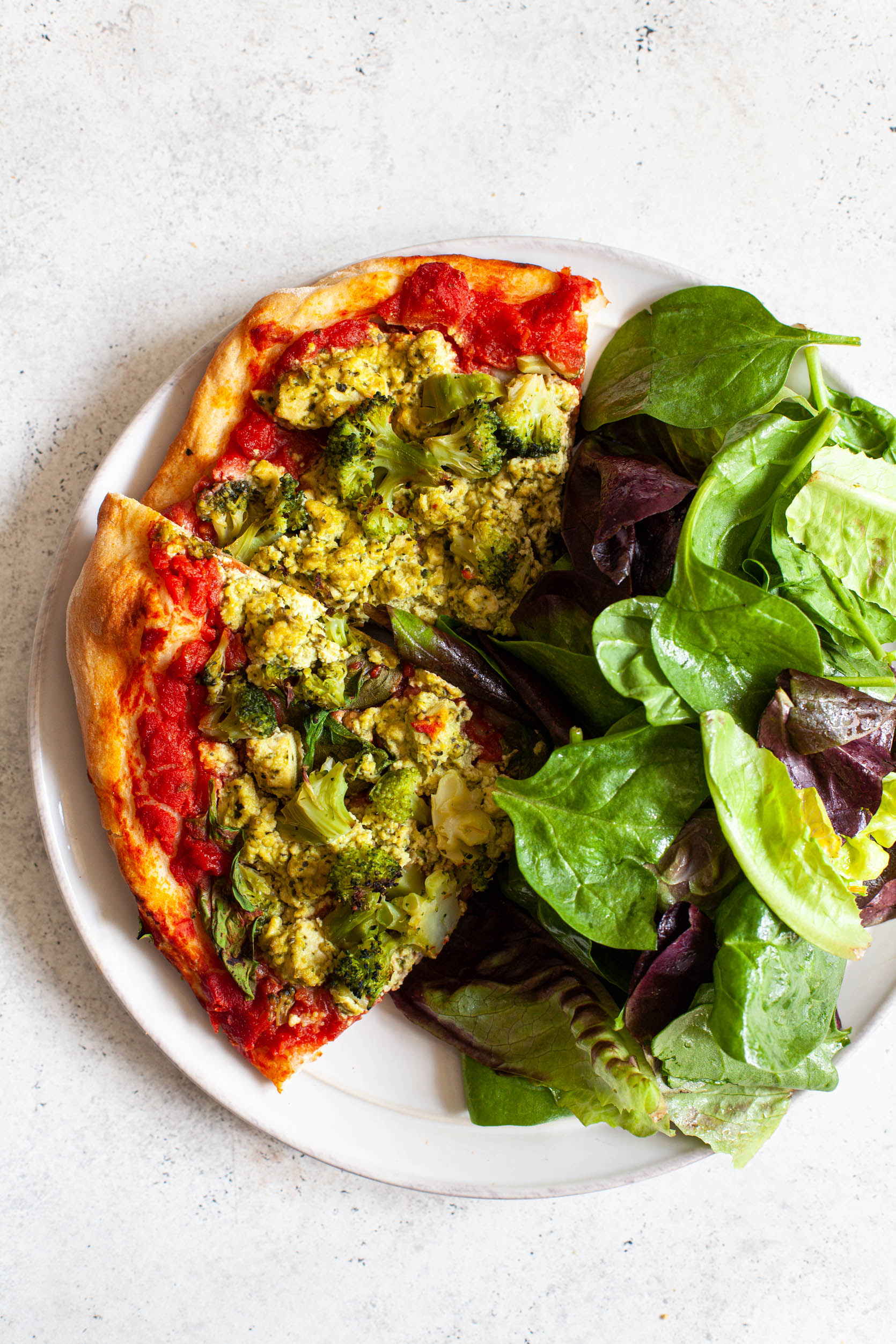 Green Goodness Pizza | The Full Helping
