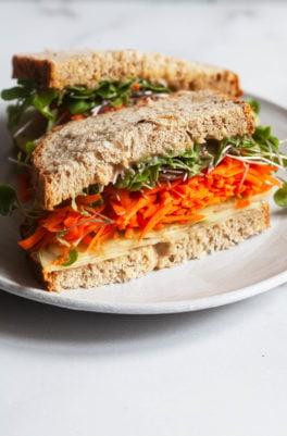 Miso Tahini Vegetable Sandwich