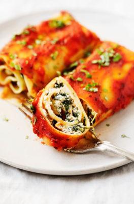 Vegan Spinach Lasagna Rolls
