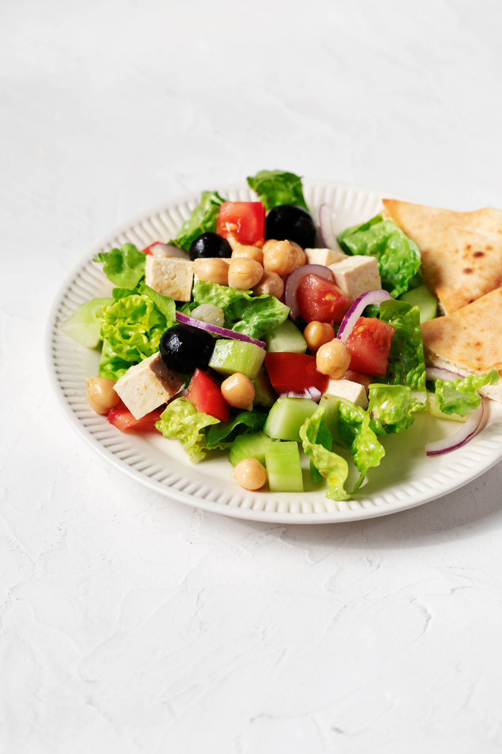 Vegan Chickpea Greek Salad