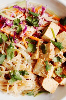 15-Minute Teriyaki Tofu Noodle Bowls