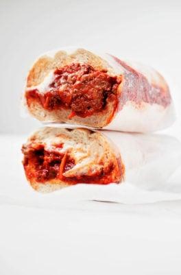 Vegan Tempeh Meatball Subs